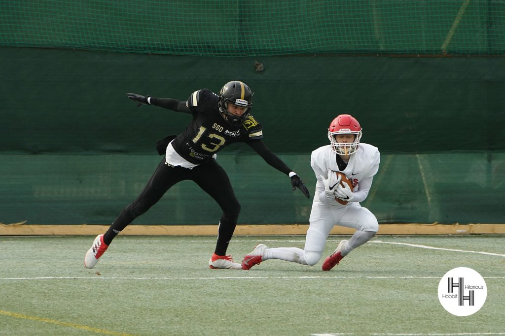 Frans touchdown Oslo Vikings